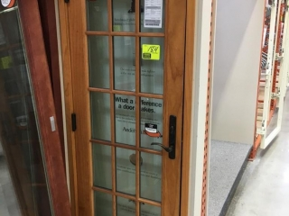"""28"""" x 77"""" Anderson wood and glass entry door"""