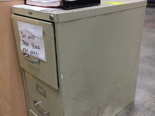 Hirsh 2-drawer file cabinet
