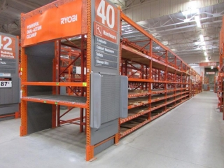 """(1) 108"""" and (31) 99"""" sections of Interlake pallet racking, (1) 3' x 16' and (31) 4' x 12'"""