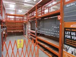 """(17) 99"""" (1) 87"""", and (2) 75"""" sections of Interlake pallet racking, (7) 2' x 12' & (13) 3' x 12'"""