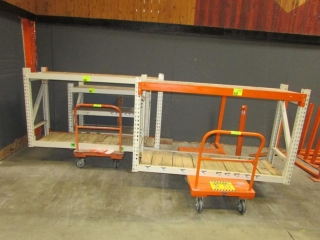 """(2) 75"""" and (1) 51"""" sections of Interlake warehouse racking, 2' x 4'"""