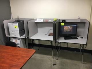 "36"" x 30"" desk stations"
