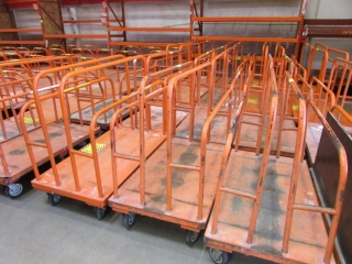 8' x 4' large platform 6-wheel dollies
