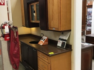 Kraft Maid Harmony Somersworth kitchen cabinets, assorted with granite countertop
