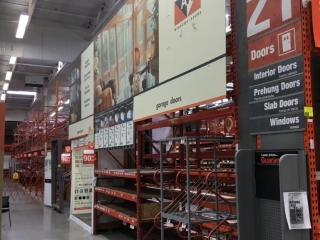 """(12) 108"""" and (1) 99"""" sections of Interlake teardrop pallet racking with wood decking, 3' x 16'"""