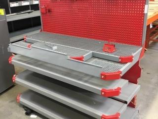 Milwaukee tool endcap display rack
