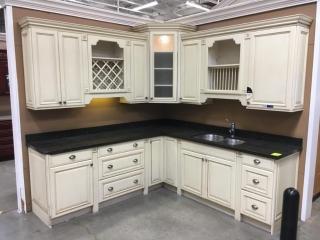 Premier Carlton kitchen cabinets, fawn glaze with granite countertop