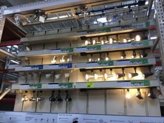 Assorted track light fixtures