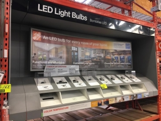 (1) Dimmer switch and (1) bulb display rack
