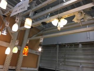 Assorted hanging light fixtures (Lower tier - Display)