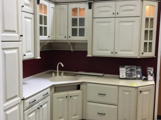 Thomasville Terrace kitchen cabinets, foil with Corian countertop