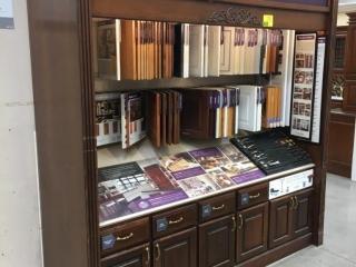 Kraft Maid samples display cabinet
