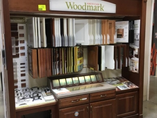 American Woodmark samples display cabinet