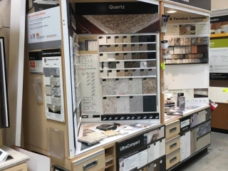 Countertop samples display cabinet