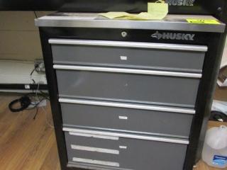 "26"" x 19"" x 34"" Husky 4-drawer tool chest"