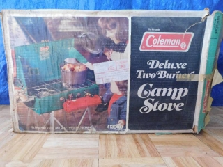 COLEMAN DELUXE TWO BURNER CAMP STOVE