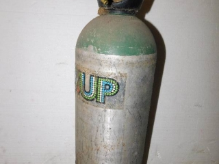 7UP CANISTER WITH GAUGES