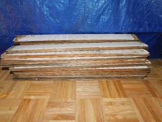 30 PCS 3.5'' X 35'' RECLAIMED TONGUE AND GROOVE BOARDS