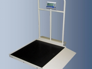 Retails New $3000 Befour Medichoice Foldable 1000lb. Capacity Portable Single Ramp Digital Wheelchair Scale With Handrail - Excellent Working Condition!