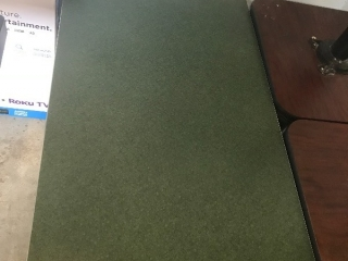 Green rectangle table