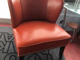 Orange leather-style chair