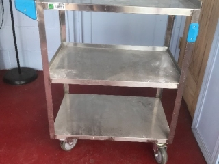 3 shelf rolling stainless cart