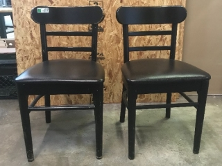 Black chairs (sets of 2)