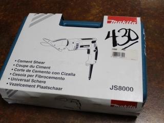 (1) Makita Cement Shear Model JS8000 (Case Included)