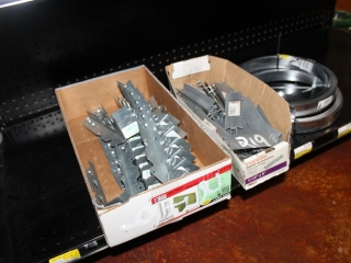 Lot Joist Hangers, Stud Guards, and Metal Straps