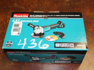 """(1) Makita 18V LXT Lithium-Ion Brushless 4-1/2"""" / 5"""" Paddle Switch Cut-Off/Angle Grinder With Electr"""