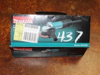 "(1) Makita 4-1/2"" Paddle Switch Angle Grinder Model 9557PB"