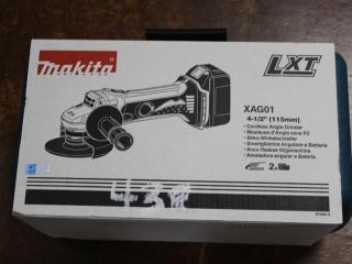 """(1) Makita 4-1/2"""" Corless Angle Grinder Model XAG01"""