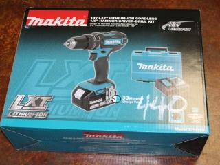 "(1) Makita 18V LXT Lithium-Ion Cordless 1/2"" Hammer Driver-Drill Kit Model XPH102"