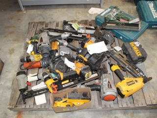 Pallet of used air and elect tools sold as parts