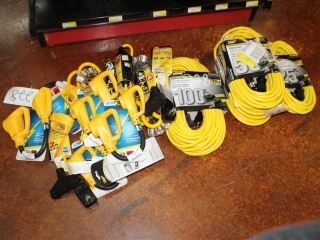 Lot of Plugs 30amp Male 50amp Female & Extension Cords Approx 300ft