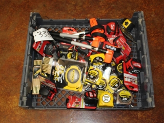 Lot of Assorted Tape Measures/Rules and Measuring Wheels
