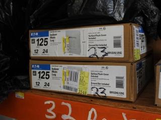 (2) 125 AMP Eaton 12 Space 24 Circuit Indoor Main Lug