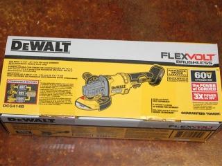 "(1) Dewalt FlexVolt Brushless 60V Max 4-1/2""-6"" Grinder Kit w/ Kickback Brake Model (TOOL ONLY) Mode"