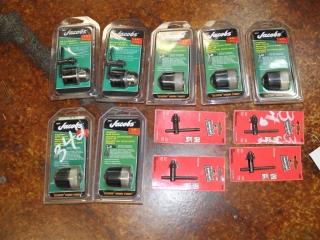 Lot of Assorted Drill Chucks w/ Chuck Keys