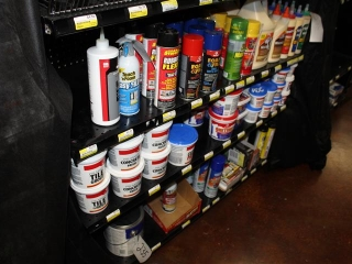 Lot of Spray Foam, Grout, Wood Glue, Spackle, Wood Epoxy Putty