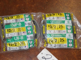 Lot of 12/2 Outdoor Wire 600Volts Type UF-B Copper Wire 50ft