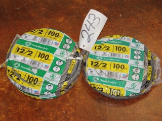 Lot of Type UF-B 12/2 600V W/ Ground Copper Wire 200ft