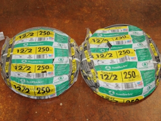 Lot of Type UF-B 12/2 600V W/ Ground Copper Wire 500ft