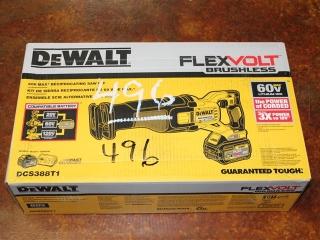 (1) DeWalt FlexVolt Brushless 60V Max Reciprocating Saw Kit Model DCS388T1