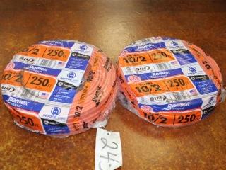 Lot of Type NM-B Romex 10/2 600V Copper wire W/ Ground 500ft