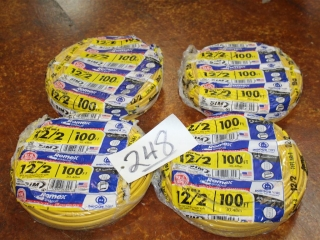 Lot of Type NM-B Romex 10/2 600V Copper wire W/ Ground 400ft