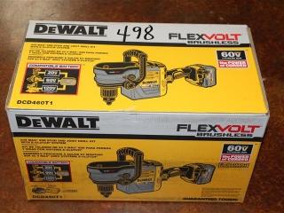 (1) DeWalt FlexVolt Brushless 60V Max VSR Stud & Joist Drill Kit w/ E-Clutch System Model DCD460T1