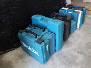 Lot Of Empty Power Tool Boxes (Mostly Makita)