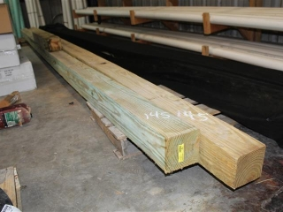 Lot of (2) 6x6x Approx 20ft W/ (1) 6x6x approx 3ft Service Poles