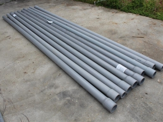 """Approximately (10) 2 ½ """"X10' Schedule 80 PVC"""